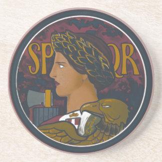 Vintage Roman Emblem of Italy SPQR Coaster
