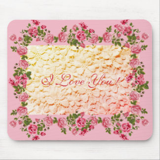 Vintage-Romance-Designs'-TEMPLATE-LOVE-PINK Mouse Pad