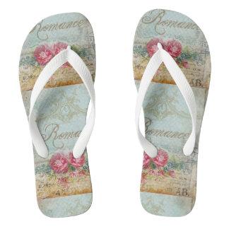Vintage Romance Flip Flops