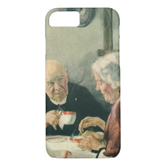 Vintage Romance, Grandparents in Love iPhone 7 Case