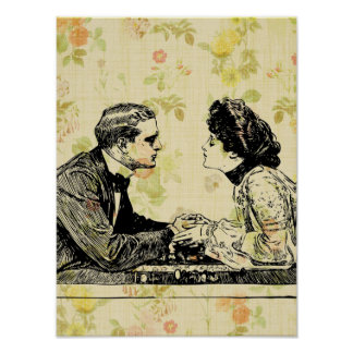 Vintage Romance Poster