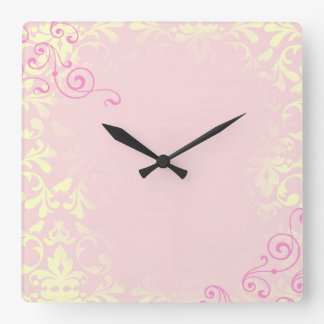 Vintage Romance Quote Mantra Square Wall Clock