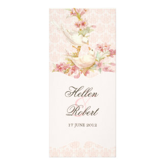 Vintage Romantic Birds  Wedding Ceremony Program Customized Rack Card