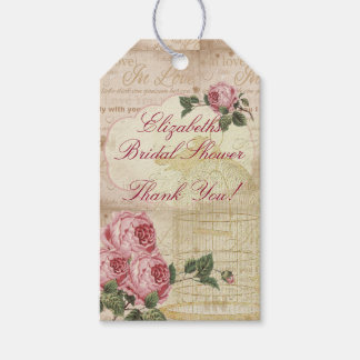 Vintage Romantic Chic Bridal Shower Thank You Gift Tags