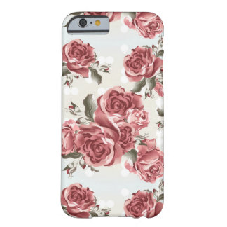 Vintage Romantic drawn red roses bouquet Barely There iPhone 6 Case