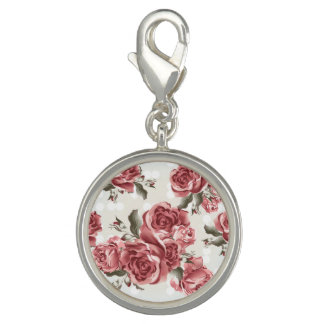 Vintage Romantic drawn red roses bouquet Charm