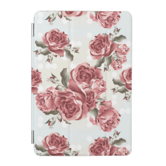 Vintage Romantic drawn red roses bouquet iPad Mini Cover
