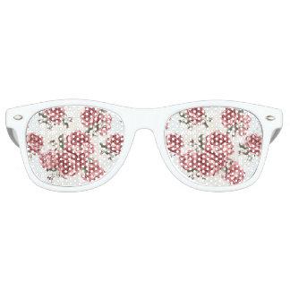 Vintage Romantic drawn red roses bouquet Retro Sunglasses