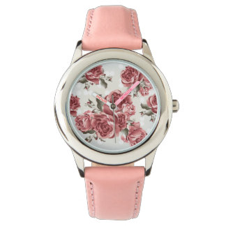 Vintage Romantic drawn red roses bouquet Watch