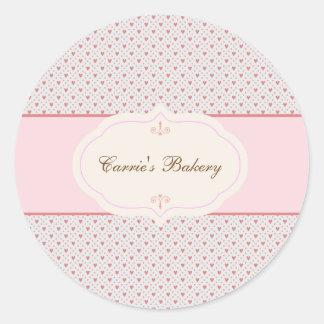 Vintage Romantic Frame Bakery Label