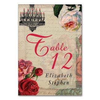 Vintage Romantic French Ephemera Bridal | Wedding Table Card