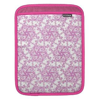 Vintage Romantic Pink Motif iPad Sleeve