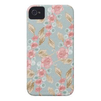Vintage, romantic rose flowers iPhone 4 case