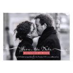 Vintage Romantic Script Photo Save the Date Custom Announcements