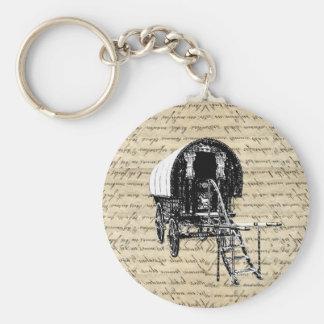 Vintage Romany Gypsy wagon Keychain