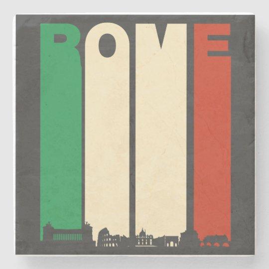 Vintage Rome Cityscape Stone Coaster