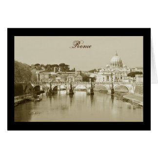 Vintage Rome, Italy Card