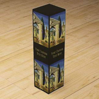 Vintage Rome Italy custom wine gift box