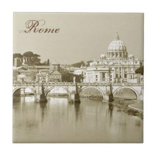 Vintage Rome, Italy Tile