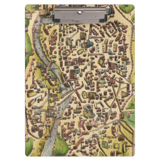Vintage Rome Map Clipboard