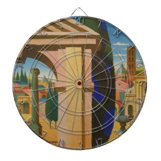 Vintage Rome Travel Poster Art Dartboard
