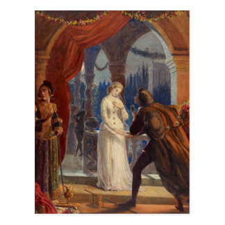 Vintage Romeo and Juliet Painting (1861) Postcard