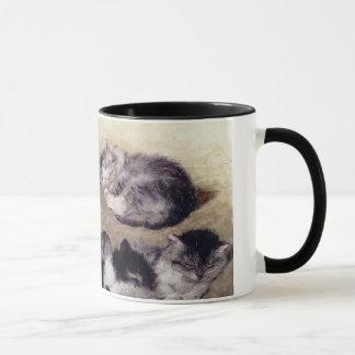 Vintage Ronner Study of Cats Mug
