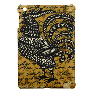 Vintage rooster case for the iPad mini