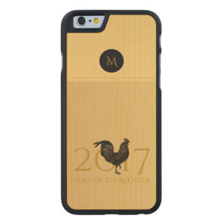 Vintage Rooster Chinese New Year 2017 Wood Iphone Carved Maple iPhone 6 Case