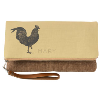 Vintage Rooster Chinese New Year or Birthday Clutch