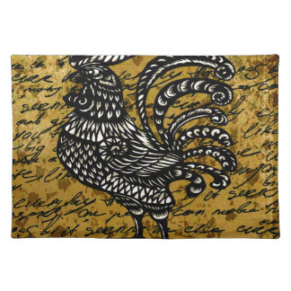 Vintage rooster placemat
