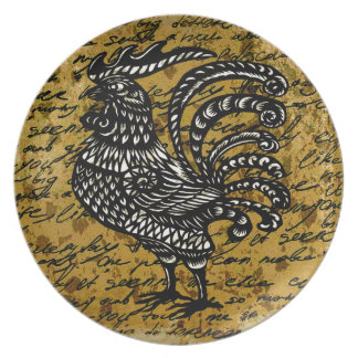 Vintage rooster plate