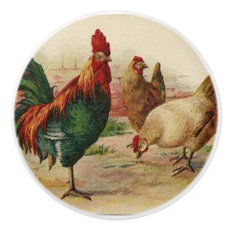 Vintage roosters home kitchen decor knob