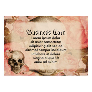 Vintage Rosa Skull Collage Pack Of Chubby Business Cards