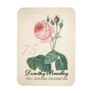 Vintage Rose 75th Birthday Celebration - Magnet
