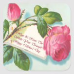 Vintage Rose and Message Mother's Day Sticker