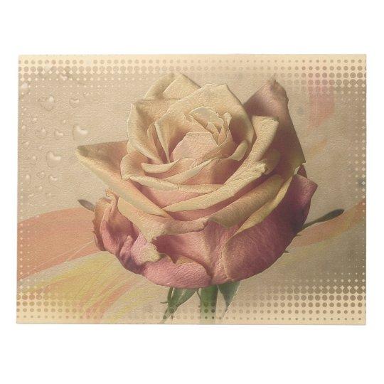 Vintage rose beautiful illustration notepad