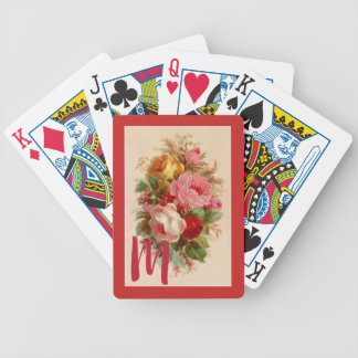 Vintage Rose Bouquet Playing Cards
