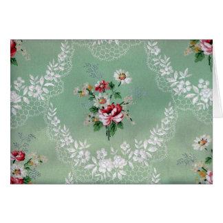 Vintage Rose Bouquet Wallpaper Design Card