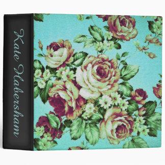 Vintage Rose Chic Spring Binders