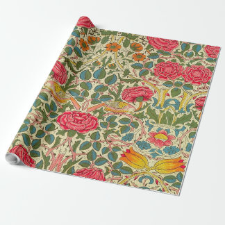 Vintage Rose Chintz Floral pattern Wrapping Paper