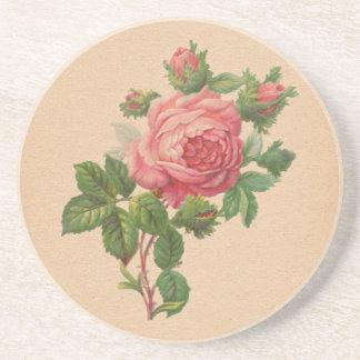 Vintage Rose Coaster