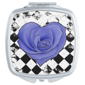 Vintage Rose Compact Travel Mirrors