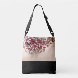 Vintage Rose Crossbody Bag (Medium)