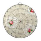 Vintage Rose Doily Wallpaper Dartboard