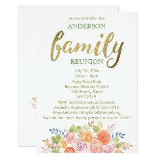 Vintage Rose Family Reunion Card