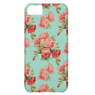Vintage Rose Flower Pattern iPhone 5C Case
