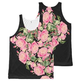 Vintage Rose Flowers Floral Botanical Art All-Over-Print Tank Top