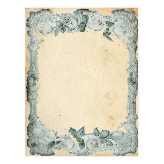 Vintage Rose Frame Postcard