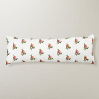 Vintage Rose Garden Body Pillow